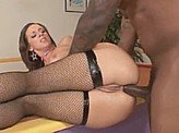 Free Sex Videos 538 :: Big black dick punishes her tight little asshole