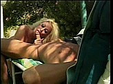 Blow Job Videos 7 :: Boss gets blow job while relaxing in lawn chair