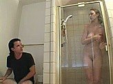 Porn Movie 13 :: Dads friend saw his daughter go in the shower
