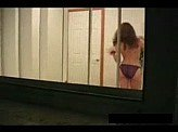 Voyeurism 31 :: Girl filmed at night getting dressed after a shower