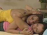 Hot Lesbian Videos 387 :: Girlfriends explore intimacy for the 1st time (2 scenes)