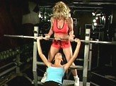 Lesbian Sex Videos 157 :: Her trainer takes advantage and fucks her with a strap on