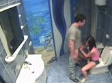 Blow Job Video 89 :: Blowjob in the bathroom is caught on hidden camera