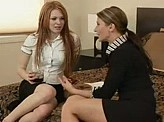 Hot Lesbian Video 197 :: Lesbian boss gets her hot intern drunk