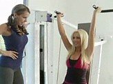 Lesbian Videos 248 :: Lesbians have sex at the gym