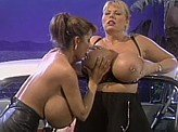Lesbian Videos 292 :: Lesbians play with each others MASSIVE boobs