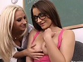 Lesbian Sex Videos 178 :: Naughty teacher seduces her brainy bookworm