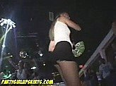 Voyeurism 19 :: Hidden cam catches a quick upskirt of this girl dancing