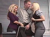 Free Sex Videos 552 :: Office guy gets lucky with 2 hot co-workers