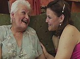 Free Lesbian Video 445 :: Old Granny teaches teen school girl all about lesbian sex