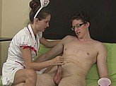 Sex Video 576 :: Sperm bank donor needed some help from the nurse