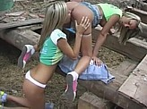 Hot Lesbian Videos 374 :: Teen lesbians sneak into the barn to play