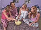 Lesbian Sex Videos 58 :: Teen slumber party turns into a lesbian orgy