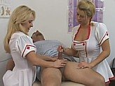 Sex Video 569 :: Only way to save him is for 2 hot nurses to jerk him off