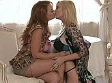 Free Lesbian Video 324 :: Video session turns dirty for these 2 lesbians