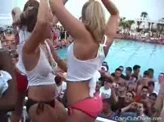 Sexy Girl Videos 55 :: Wet T-Shirt contest on spring break where hot girls show off their tits